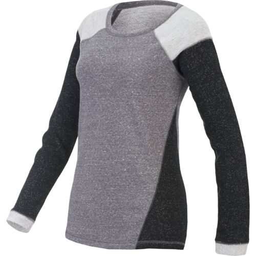 BCG™ Women's Lifestyle Quest II Long Sleeve Blocked French Terry Top