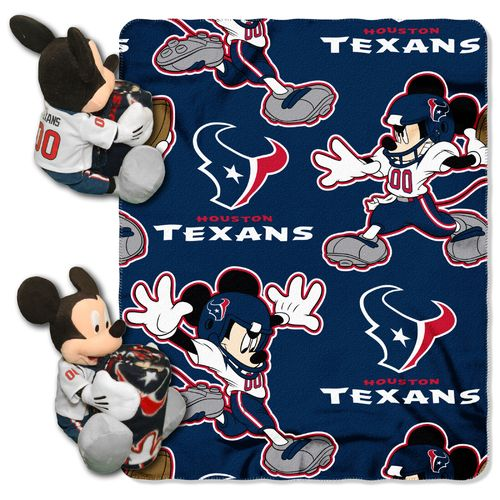The Northwest Company Houston Texans Mickey Mouse Hugger and Fleece Throw Set