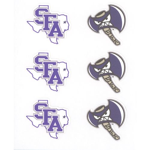 Stockdale Stephen F. Austin State University Face Decals 6-Pack