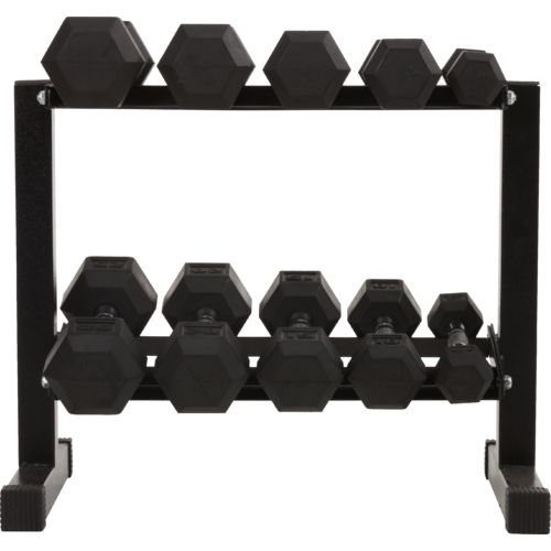 BCG 150 lbs Rubber Hex Dumbbell Set - view number 1