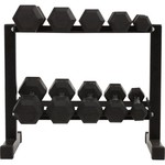 BCG™ 150 lb. Rubber Hex Dumbbell Set