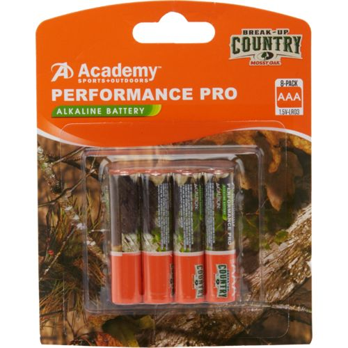 Academy Sports + Outdoors Performance Pro Mossy Oak AAA Alkaline Batteries 8-Pack