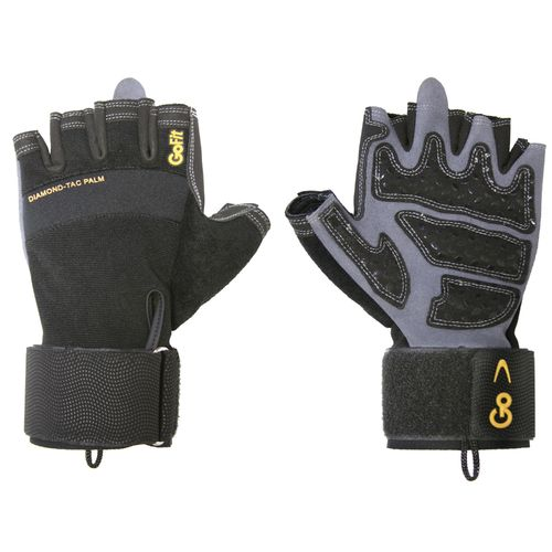 GoFit Adults' Diamond-Tac Weightlifting Gloves