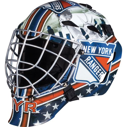 Franklin Boys' New York Rangers GFM 1500 Goalie Face Mask