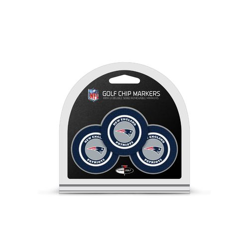 Team Golf New England Patriots Poker Chip and Golf Ball Marker Set