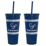 Boelter Brands Houston Texans 22 oz. Bling Straw Tumblers 2-Pack - view number 1