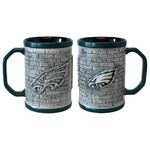Boelter Brands Philadelphia Eagles Stone Wall 15 oz. Coffee Mugs 2-Pack