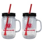 Boelter Brands University of Utah 20 oz. Handled Straw Tumblers 2-Pack - view number 1