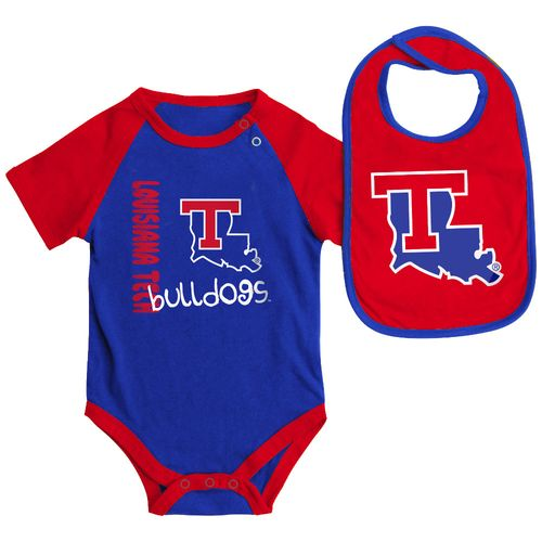 Display product reviews for Colosseum Athletics Infants' Louisiana Tech University Rookie Onesie and Bib Set