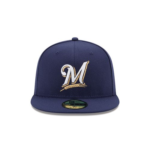New Era Men's Milwaukee Brewers 2016 59FIFTY Cap - view number 4