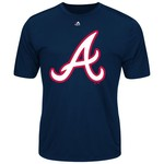 Majestic Men's Atlanta Braves Synthetic Official Logo T-shirt