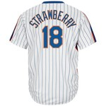 Majestic Men's New York Mets Darryl Strawberry #18 Cooperstown Cool Base 1986 Replica Jersey
