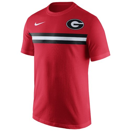Display product reviews for Nike Men's University of Georgia Cotton Team Stripe T-shirt