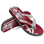 Forever Collectibles™ Kids' University of Alabama Wordmark Stripe Flip-Flops