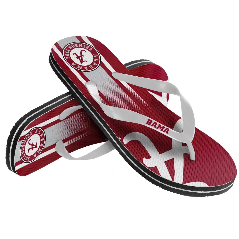 Forever Collectibles™ Kids' University of Alabama Wordmark Stripe Flip-Flops