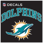 "Stockdale Miami Dolphins 8"" x 8"" Arched Decal"