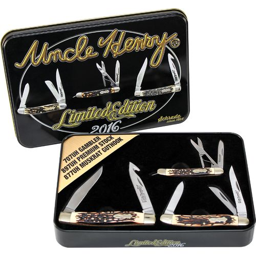 Uncle Henry 3-Piece Pocket Knife Set