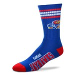 FBF Originals Men's Kansas 4-Stripe Deuce Crew Socks