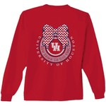 New World Graphics Women's University of Houston Ribbon Bow Long Sleeve T-shirt