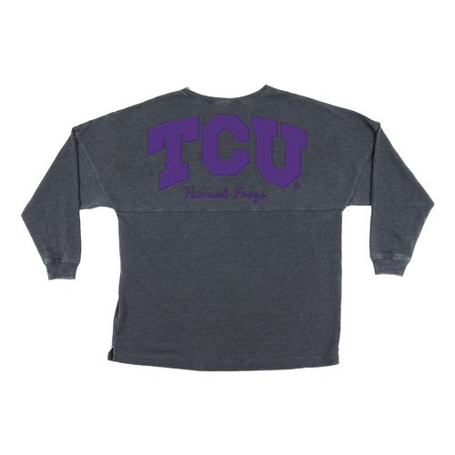 Chicka-d Women's Texas Christian University French Terry Varsity Jersey