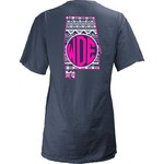 Three Squared Juniors' Auburn University Moonface Vee T-shirt