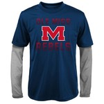 Gen2 Kids' University of Mississippi Bleachers Double Layer Long Sleeve T-shirt