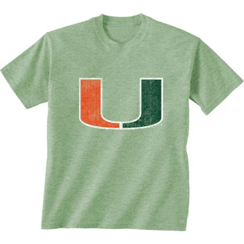 New World Graphics Men's University of Miami Alternate Graphic Short Sleeve T-shirt