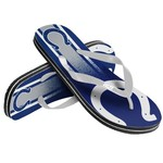 Forever Collectibles™ Kids' Indianapolis Colts Wordmark Stripe Flip-Flops