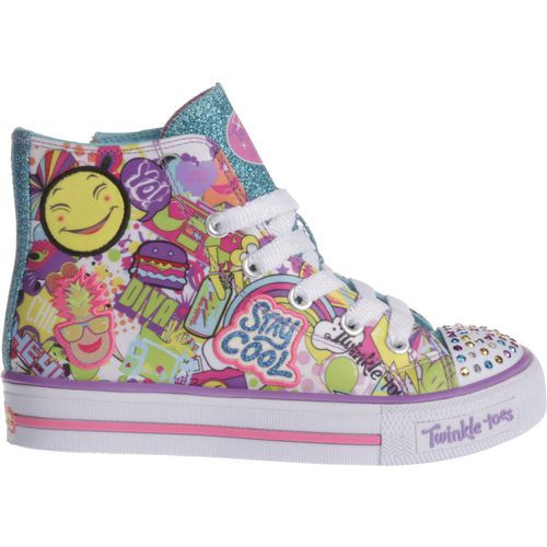 Display product reviews for SKECHERS Girls' Twinkle Toes Shuffles Trendy Talk Shoes