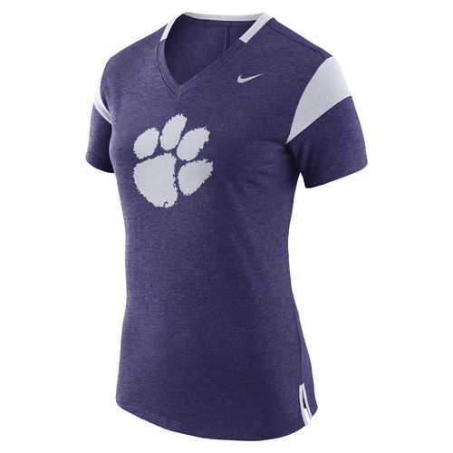 Nike Women's Clemson University Fan V Top T-shirt
