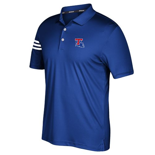 adidas Men's Louisiana Tech University 3-Stripe Polo Shirt