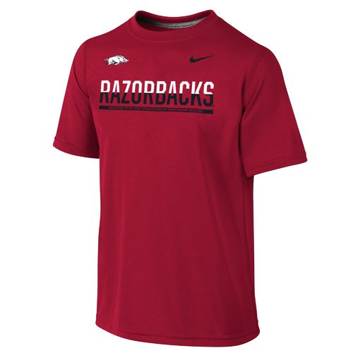 Nike™ Boys' University of Arkansas Dri-FIT Legend Staff T-shirt