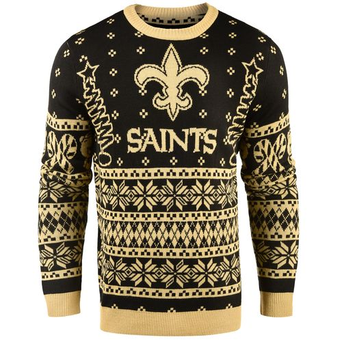 Team Beans Men's New Orleans Saints Lightweight Ugly Christmas Sweater