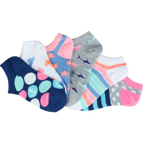 BCG Girls' Crabs No-Show Socks 6 Pairs - view number 3