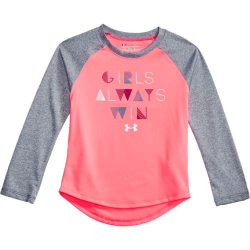 Under Armour Girls' Girls Always Win Raglan Long Sleeve T-shirt
