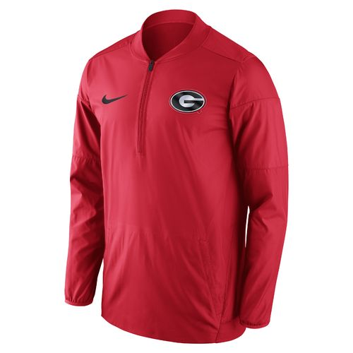 Nike™ Men's University of Georgia Lockdown 1/2 Zip Jacket