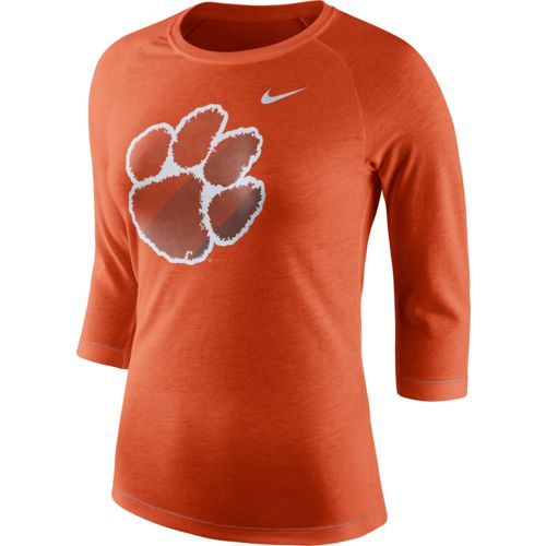Nike Women's Clemson University Champ Drive Raglan T-shirt