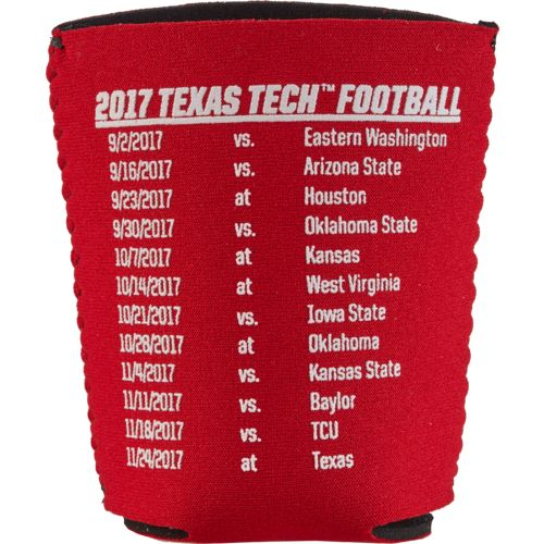 Kolder Kaddy Texas Tech University 2017 Football Schedule 12 oz Can Insulator - view number 2