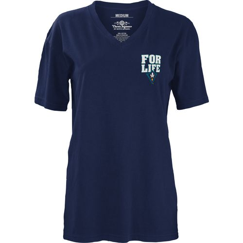 Three Squared Juniors' University of North Carolina at Wilmington Team For Life Short Sleeve V-n - view number 2