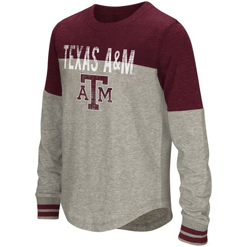 Colosseum Athletics Girls' Texas A&M University Baton Long Sleeve T-shirt