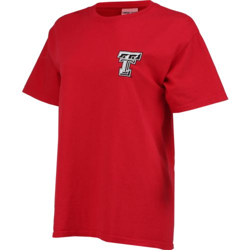 New World Graphics Women's Texas Tech University Comfort Color Initial Pattern T-shirt - view number 3