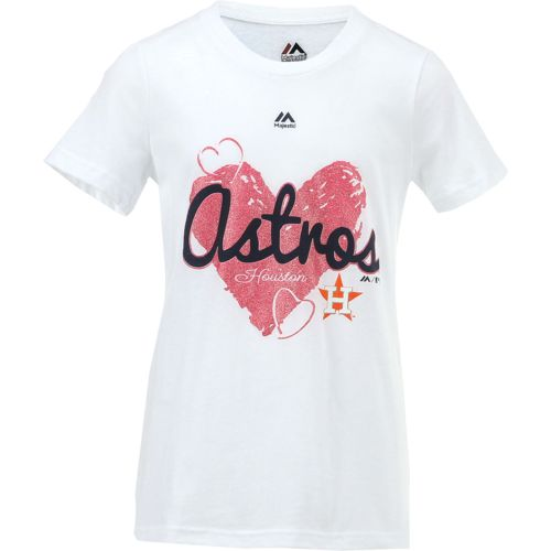 Majestic Girls' Houston Astros Triple Heart T-shirt