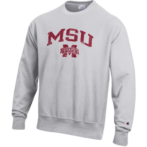 Champion Men's Mississippi State University Reverse Weave Crew Sweatshirt