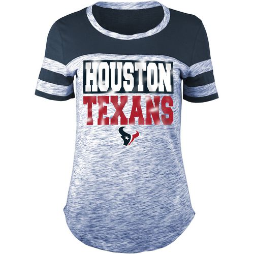 5th & Ocean Clothing Women's Houston Texans Space Dye Foil Fan Top