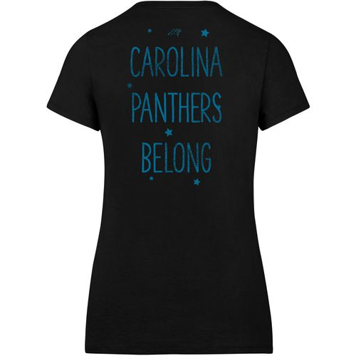 '47 Carolina Panthers Women's MVP Splitter Scoop Neck T-shirt