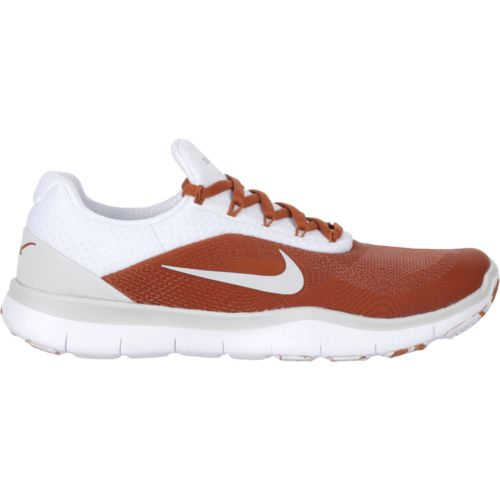 Nike Men's University of Texas Free Trainer V7 Week Zero Desert Orange/Pure Platinum/White Training