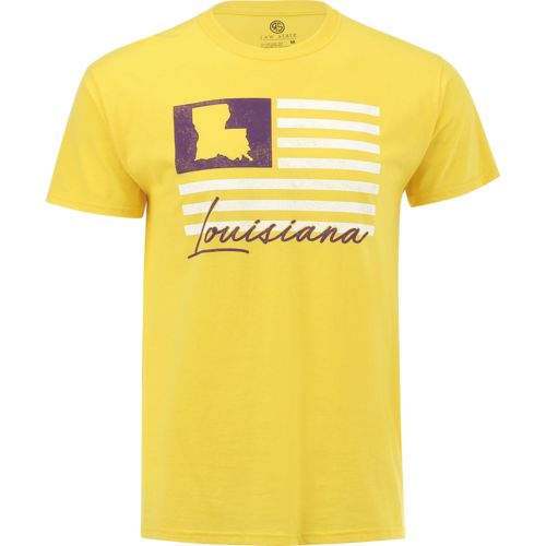 Raw State Men's Louisiana State Flag T-shirt