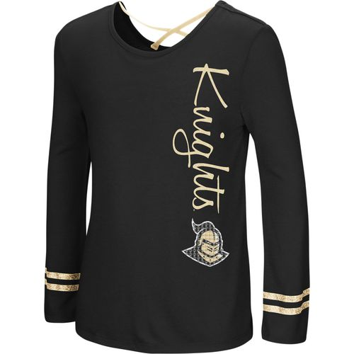 Colosseum Athletics Girls' University of Central Florida Marks the Spot Strappy Back Long Sleeve T-s
