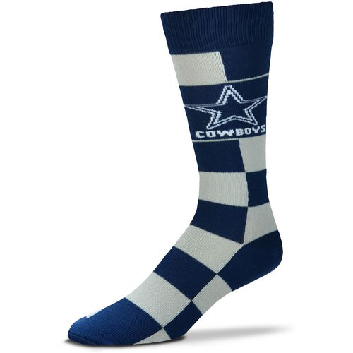 For Bare Feet Dallas Cowboys Jumbo Check Thin Knee High Dress Socks