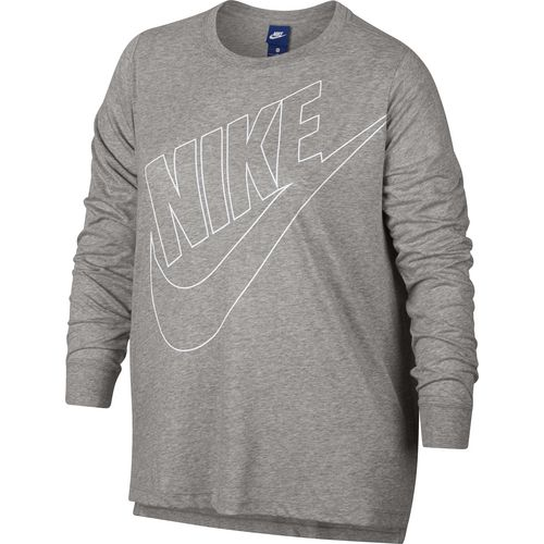 nike women's sportswear prep futura long sleeve plus size top